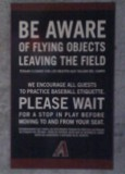 Chase Field Warning